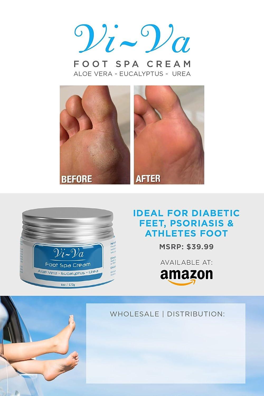 VIVA Foot Spa Cream - Foot Repair Lotion 4oz | ALOE | SHEA | EUCALYPTUS | UREA International Custom Pak Inc.