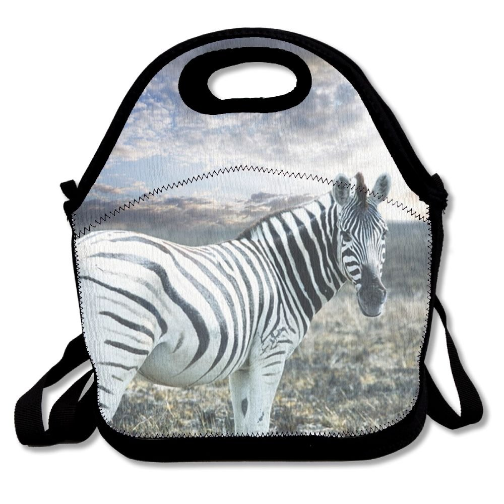 Sunset Zebra Lunch Bag Lunch Tote Lunch Pouch Handbag Made For Women, Men And Kids