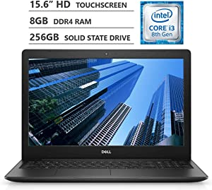 "2019 Newest Dell Inspiron 15 15.6"" HD LED-Backlit Touchscreen Laptop, Intel Core i3-8145U Processor up to 3.90GHz, 8GB RAM, 256GB Solid State Drive, HDMI, Wireless-AC, Bluetooth, Windows 10, Black"
