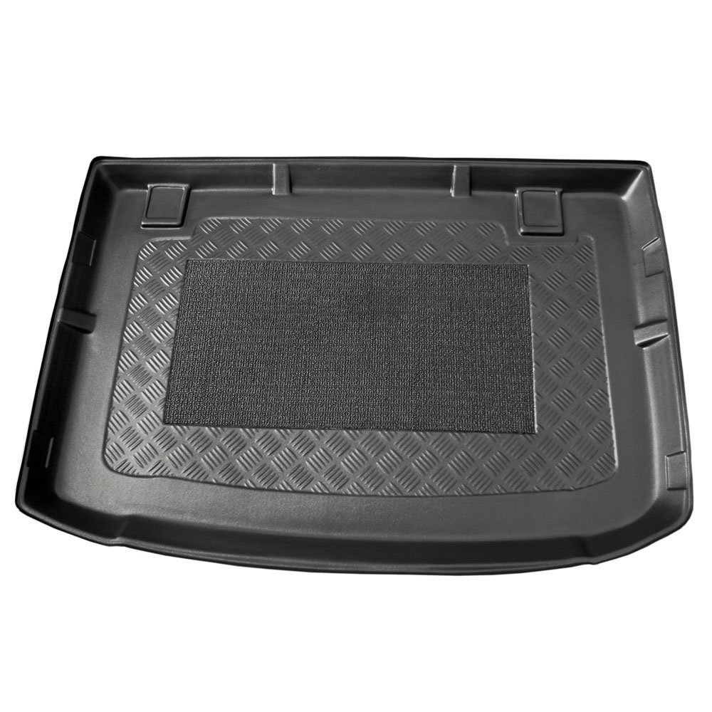 Black Heavy Duty Rubber Boot Protection Mat Liner For Citroen DS4 2011-2012 Hatchback Trim For a Secure Fit