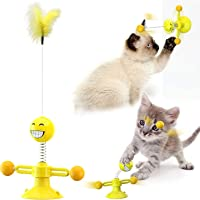 Interactive Cat Toys Funny cat Toys with Springs Suction Cup Scratching Tickle Cats Hair Toy
