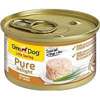 GimDog Pure Delight, pollo - Snack para perros rico en proteínas, con carne tierna en deliciosa gelatina - 12 latas (12…