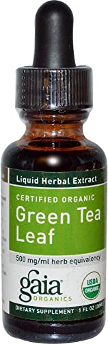 Gaia Herbs, Green Tea Organic, 1 Fl Oz