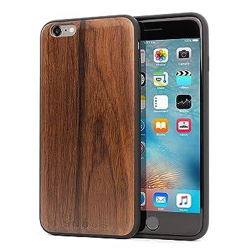 Snugg Funda iPhone 6 Plus y 6S Plus, Carcasa Anti-Impactos para Apple iPhone 6 Plus y 6S Plus [Madera Genuina] Ultrafina Revestimiento de TPU - Nuez