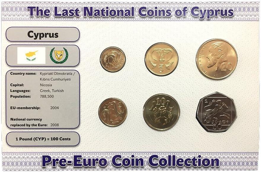IMPACTO COLECCIONABLES Monedas Pre Euro de Chipre - 6 Monedas acuñadas en 2004: Amazon.es: Juguetes y juegos