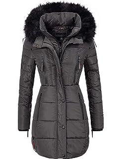 a09518da0a75 Marikoo warme Damen Winter Jacke Winterjacke Parka Stepp Mantel lang ...