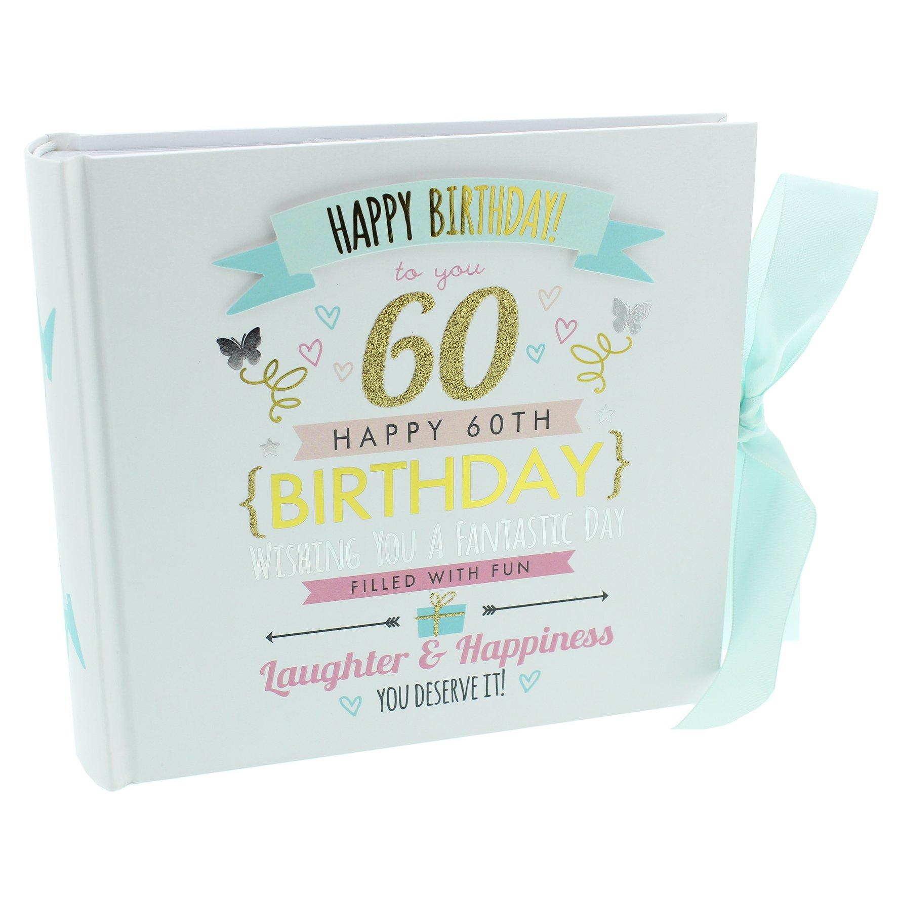 Oaktree Gifts 60th Birthday Girl Photo Album Hold 4 x 6