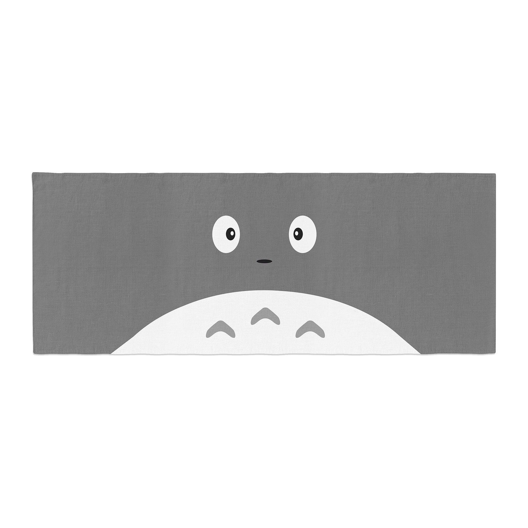 Kess InHouse Jackie Rose My Neighbor Grey Animal Bed Runner, 34'' x 86''