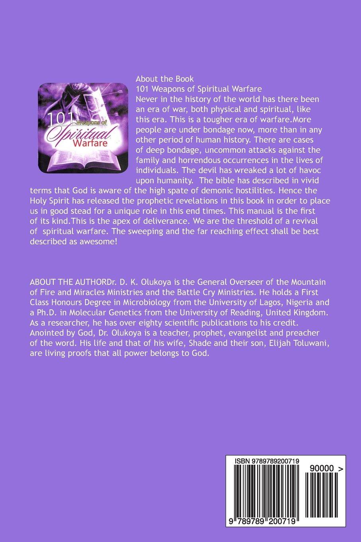 101 Weapons of Spiritual Warfare: Dr. D. K. Olukoya: 9789789200719:  Amazon.com: Books