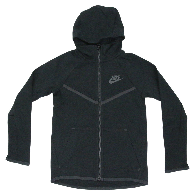 Amazon.com  Nike Sportswear Tech Fleece Windrunner Hoodie Sweatshirt Black  Boys Size Medium 856191  Sports   Outdoors e85c5ed64439