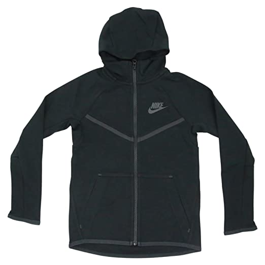 136b0ac35c9b Nike Sportswear Tech Fleece Windrunner Hoodie Sweatshirt Black Boys Size  Medium 856191