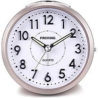 Despertador Analógico de Viaje,Reloj de Alarma para Niños
