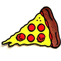 Nipitshop Patches Fantasy Skull Pizza Italian Fast Food with Red Skull Cartoon Kids Patch Embroidered Iron On Patch for Clothes Backpacks T-Shirt Jeans Skirt Vests Scarf Hat Bag