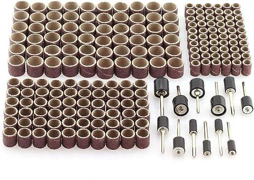 252 Pack Rotary Drum Sanding Band Mandrel 1//2 3//8 1//4 120 Grit Dremel Tool New
