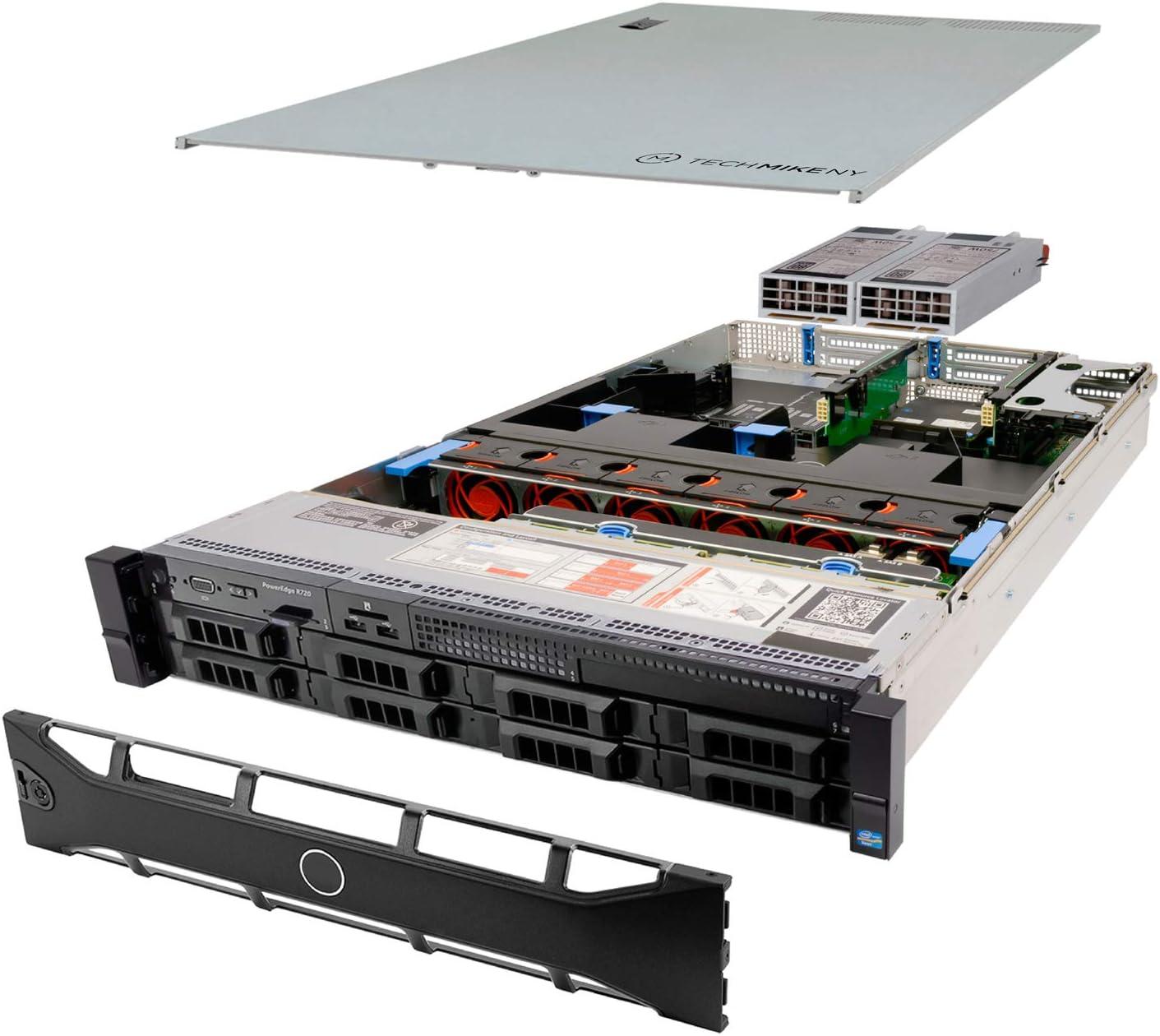 TechMikeNY Server 2X E5-2643 3.30Ghz 8-Core 96GB H710P PowerEdge R720 (Renewed)