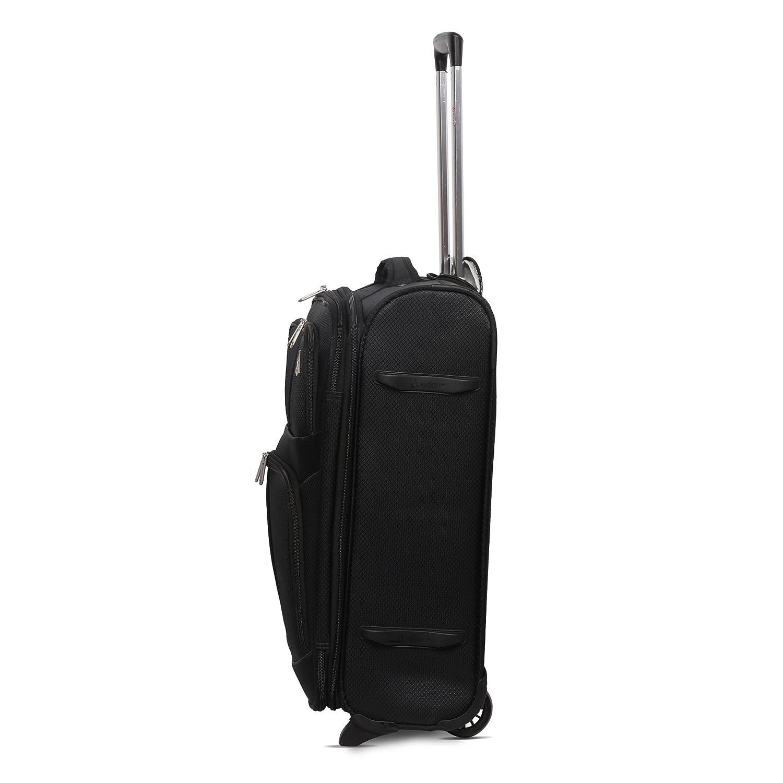 sadapte /Également /à Easyjet Lufthansa Jet2 Monarch Plus Noir Set de 2 Valises Aerolite 55x40x20 Ryanair Taille Maximale 42L Bagage Cabine Bagage /à Main Valise Souple L/égere /à 2 roulettes
