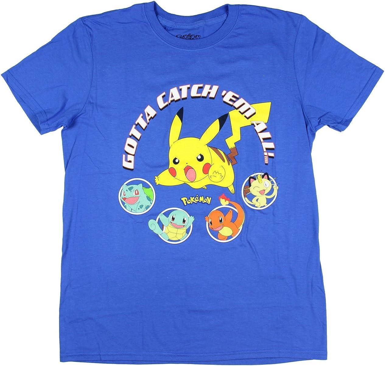 Pokemon Boys Pikachu Game Shirt Gotta Catch Em All Official T-Shirt