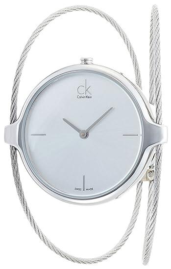 Calvin Klein Reloj Analógico para Mujer de Cuarzo con Correa en Acero Inoxidable K2Z2S116: Amazon.es: Relojes