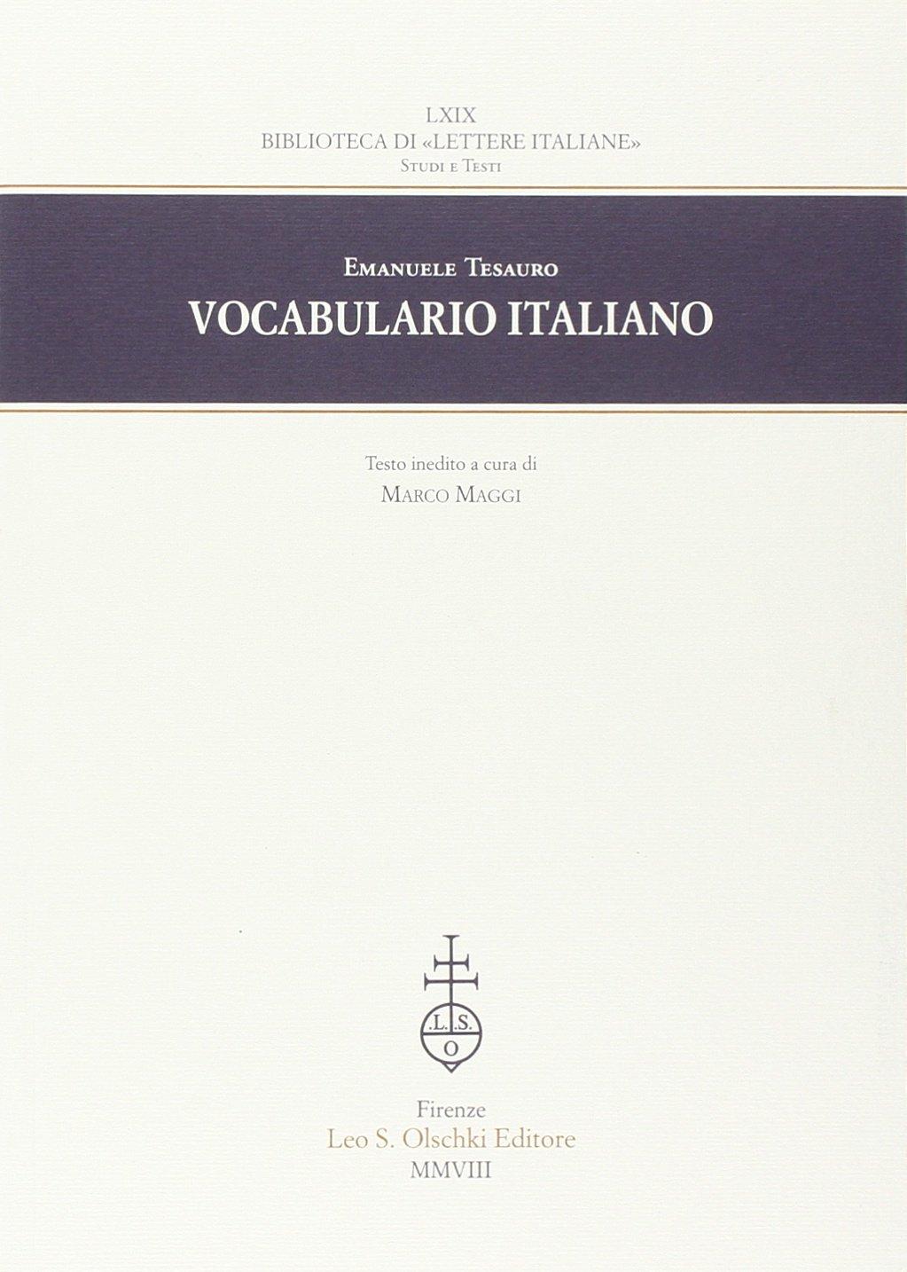 Vocabulario italiano: Emanuele. Tesauro: 9788822258274: Amazon.com ...