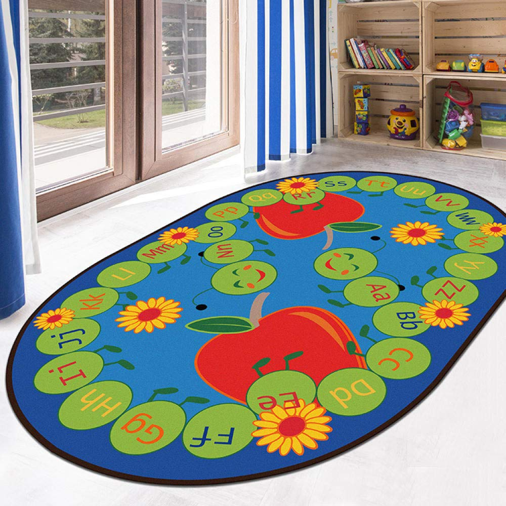 YPYSYL Bedside carpet Childrens carpet Non Slip Machine Washable Bath Mat for Bathroom Kitchen Room Bedroom,Building block/_60*90cm
