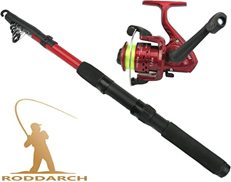 2m Spinning Coarse Telescopic Fishing Rod & Reel Combo with SY200 Reel & Line