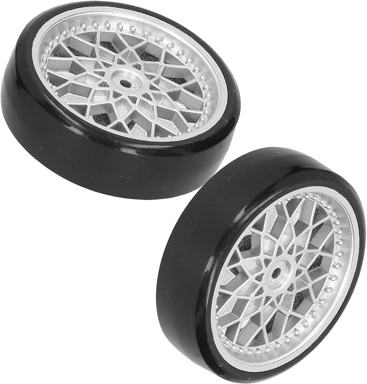 Neumático RC, RC Metal Plástico Neumático Eje de Rueda Mejoramiento de Piezas de Accesorios de Repuesto compatibles con el Modelo de Coche WPL D12 RC(Plata)