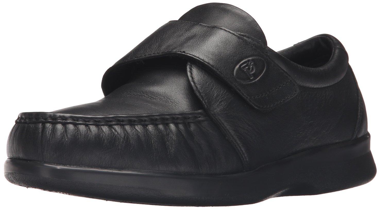 Propet Men's Pucker Moc Strap Shoe 13 XX (US Men's 13 EEEEE)|Black