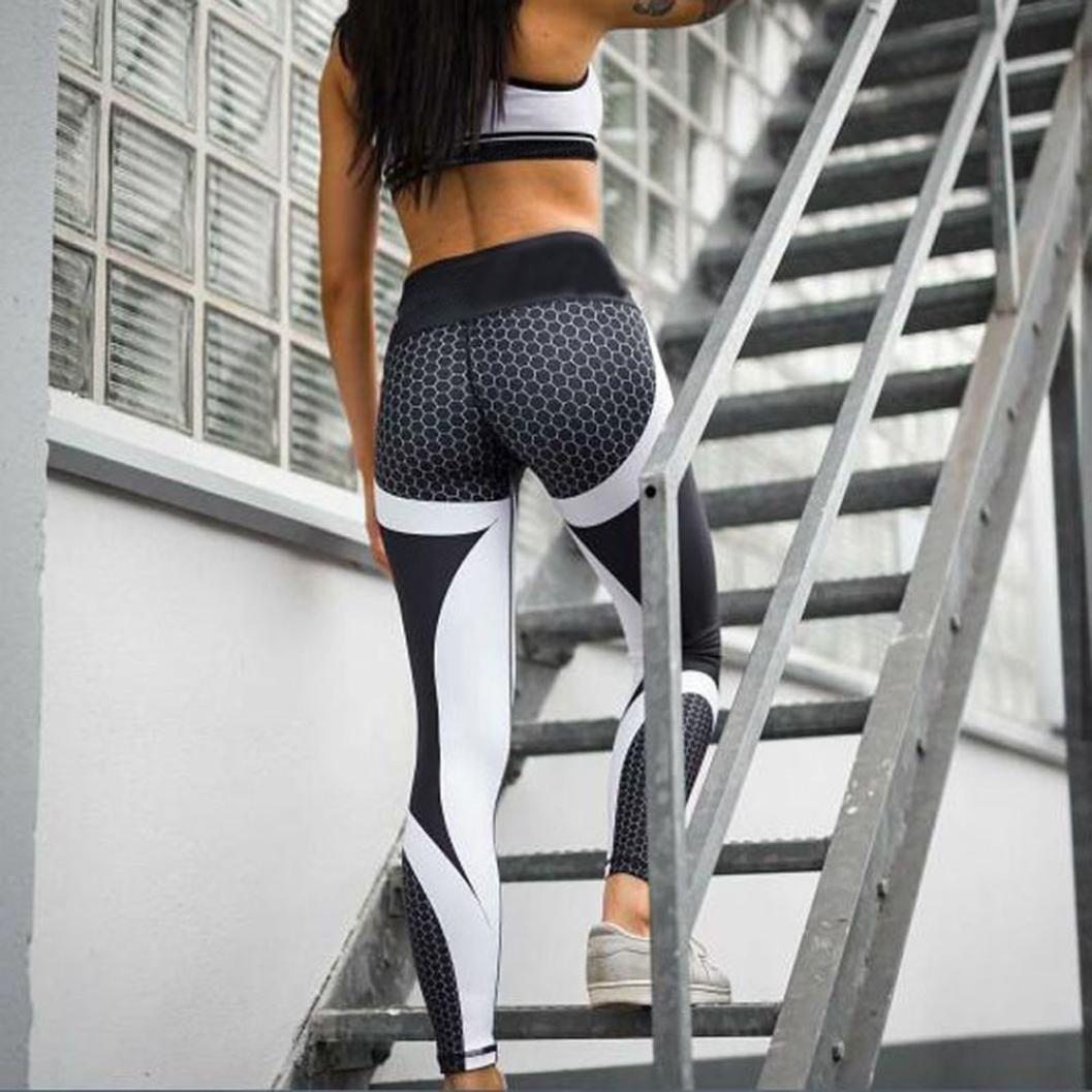 luoluoluo Leggins Sportivi Donna Yoga Pants Donna Donne 3D Stampa Yoga Pant Skinny Workout Palestra Leggings Sport Pantaloni Ritagliati,Fitness Gym Pantaloni di Yoga