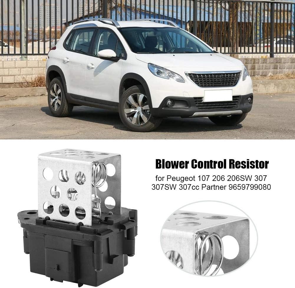 Hlyjoon 9659799080 Car Resistore di Controllo Blower in Acciaio Inossidabile ABS per 107 206 206SW 307 307SW 307cc Partner