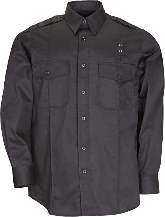 5.11 Hombres PDU Clase A de Sarga de Manga Larga Camiseta, Hombre, Negro: Amazon.es: Ropa y accesorios