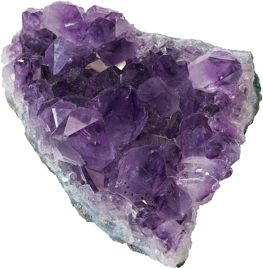 Amethyst Geode Druzy Crystal Cluster- Yoga Anxiety Relief Healing Stone use on Coffee Table or Bedroom Nightstand at Home Feng Shui Stress Relief Energy Healing Chakra Focus Reiki Meditation
