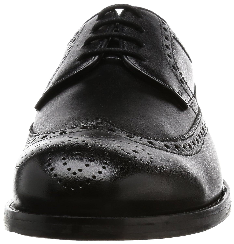 Clarks Coling Limit, Zapatos de Cordones Oxford para Hombre, Negro (Black Leather), 44.5 EU