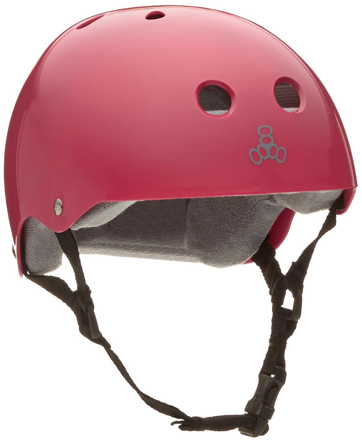 Triple Eight Helmet with Sweatsaver Liner, Pink Glossy, Medium