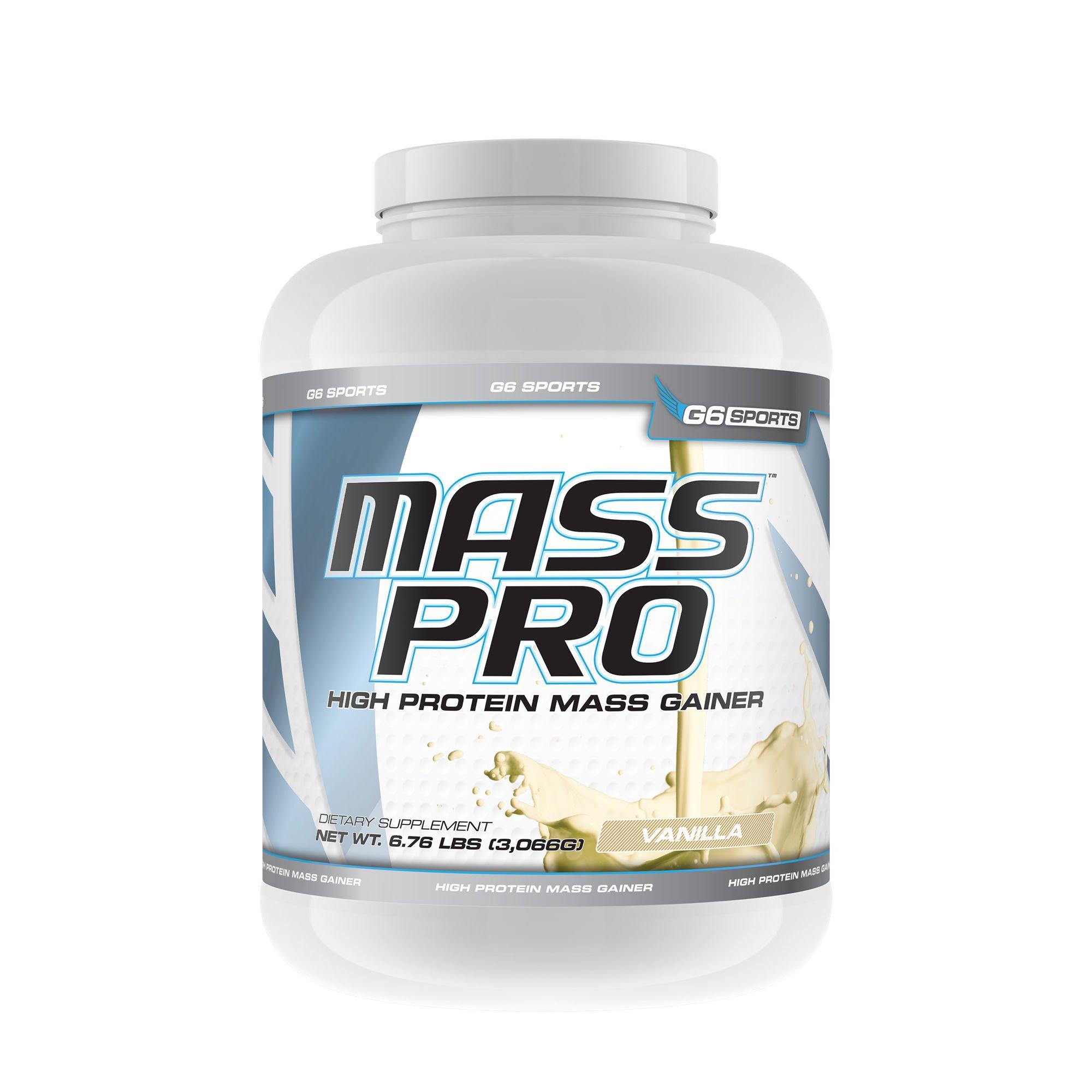 G6 Sports Mass Pro High Protein Mass Gainer- Vanilla
