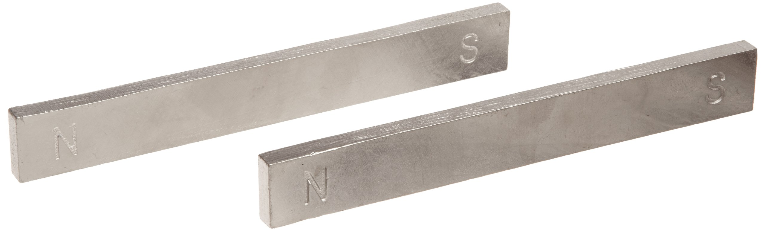 American Educational 2 Piece Unpainted Chrome Magnet Bar Set, 6'' Length