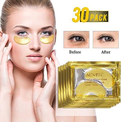 24k Gel de oro colágeno mascarilla para ojos, antiedad, ácido ...