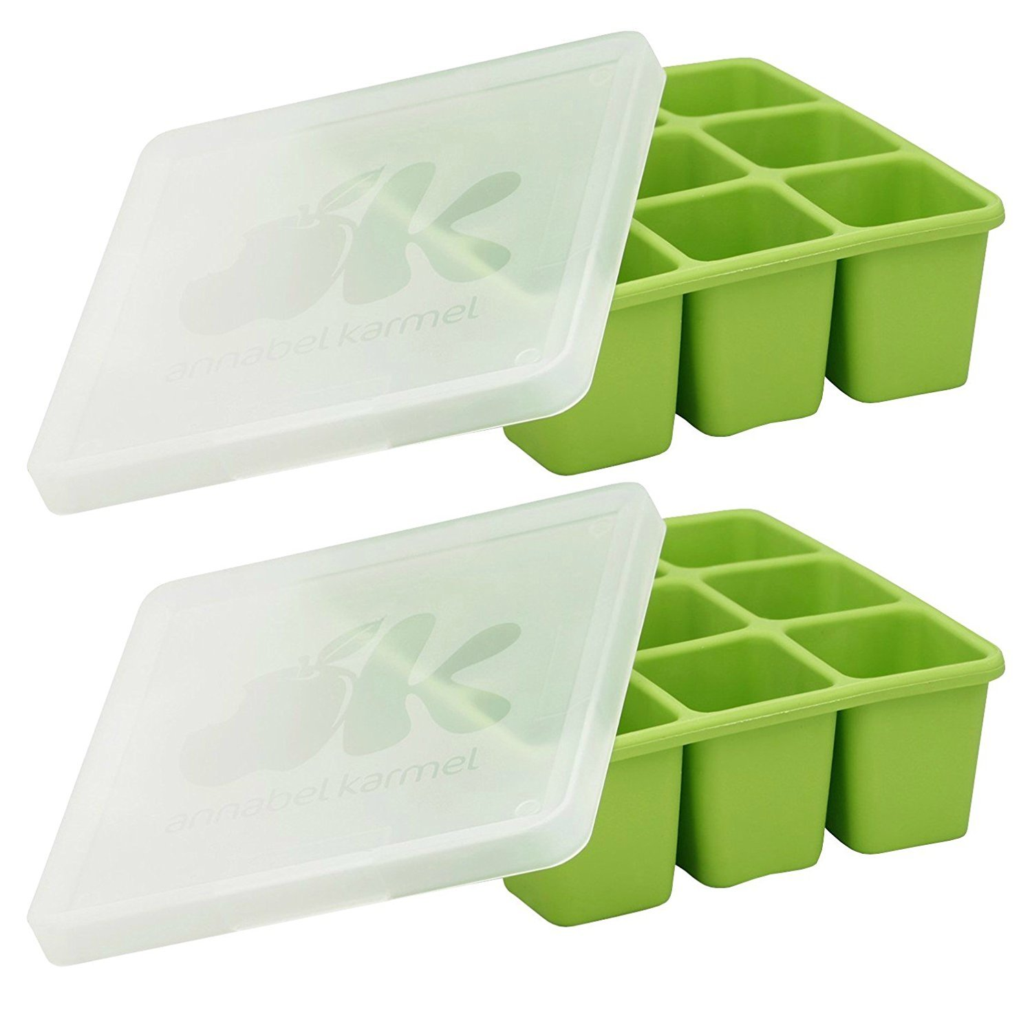 NUK Homemade Baby Food Flexible Freezer Tray and Lid Set (Pack of 2)