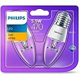 Philips LED Candle (E27 Edison Screw 5.5W B35) - Warm White