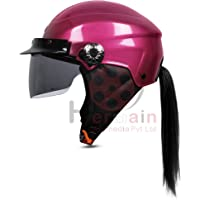 ACTIVE NIKKO BIKE AND SCOOTY HALF FACE HELMET SPECIALLY FOR MEN AND WOMEN (Medium, PINK)