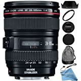 Canon EF 24-105mm f/4 L IS USM Lens (White Box) + RND Lens Accessory Kit For Canon 6D 5D Mark II 5D Mark III SL1 T5i T5 T4i T3i T3 60D 70D T2i T1i Xsi XS DSLR Cameras