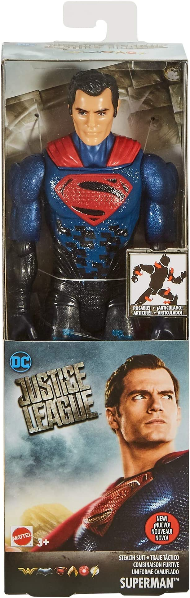 DC Justice League Stealth Suit Superman Figure