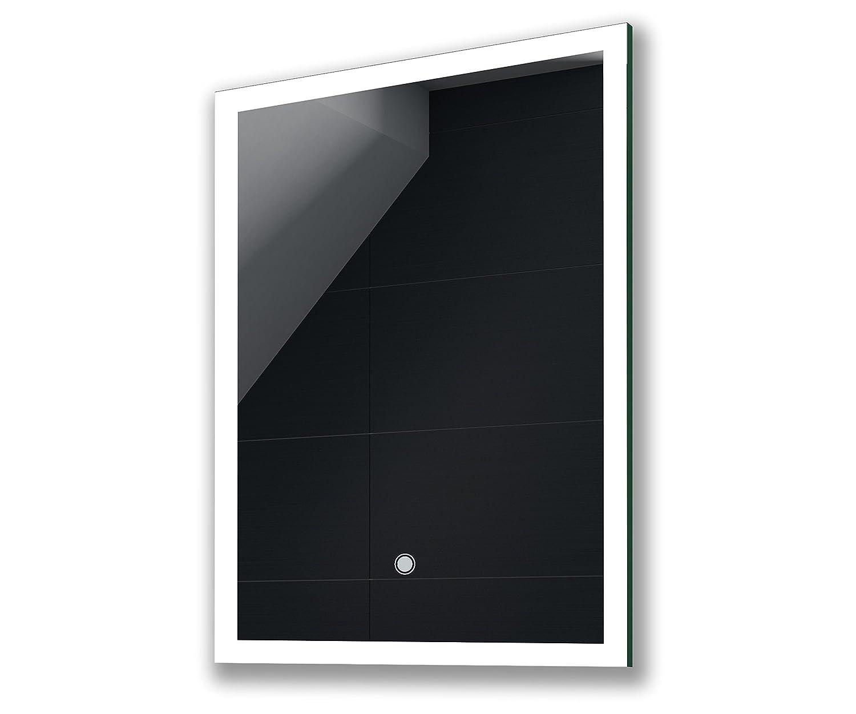 50 x 70 cm KALTWEIß Design Badspiegel mit LED Beleuchtung von Artforma   Wandspiegel Badezimmerspiegel   Spiegel nach Maß mit TOUCH SCHALTER