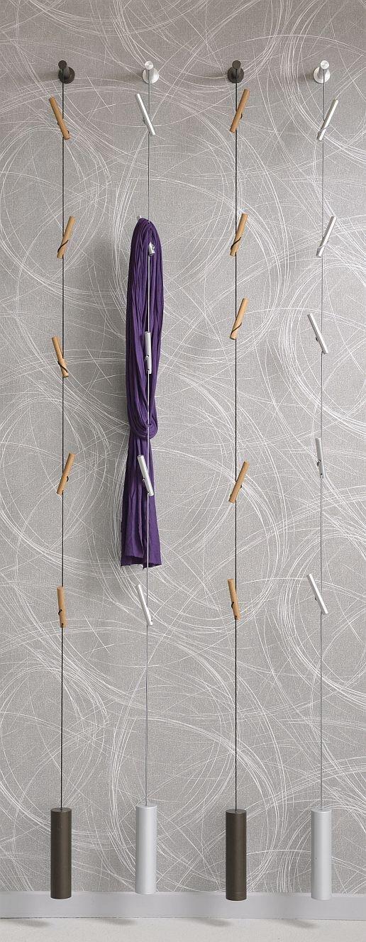 D-Tec Rapunzel Hängegarderobe am am am Seil, Aluminium 863df8
