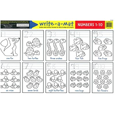 Melissa & Doug Numbers 1-10 Write-A-Mat: Toys & Games