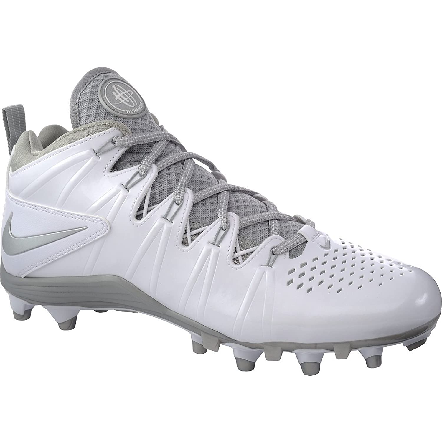 Amazon.com | Nike Men's Huarache 4 Lax White/Metallic Silver 8.5 D - Medium  | Road Running