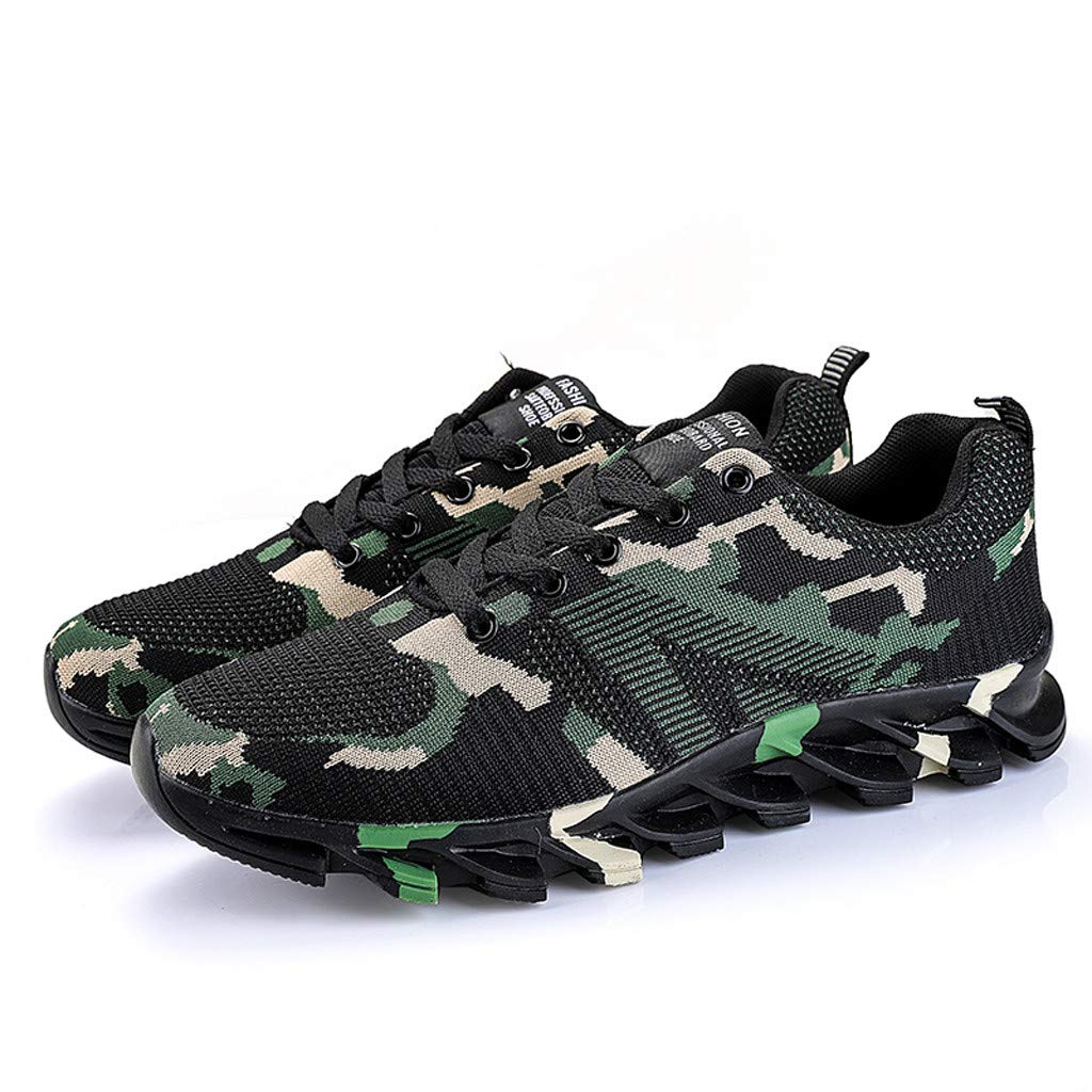 5a104f52b3a8c Amazon.com: Sharemen Men's Shoes Fashion Camouflage Running Shoes ...