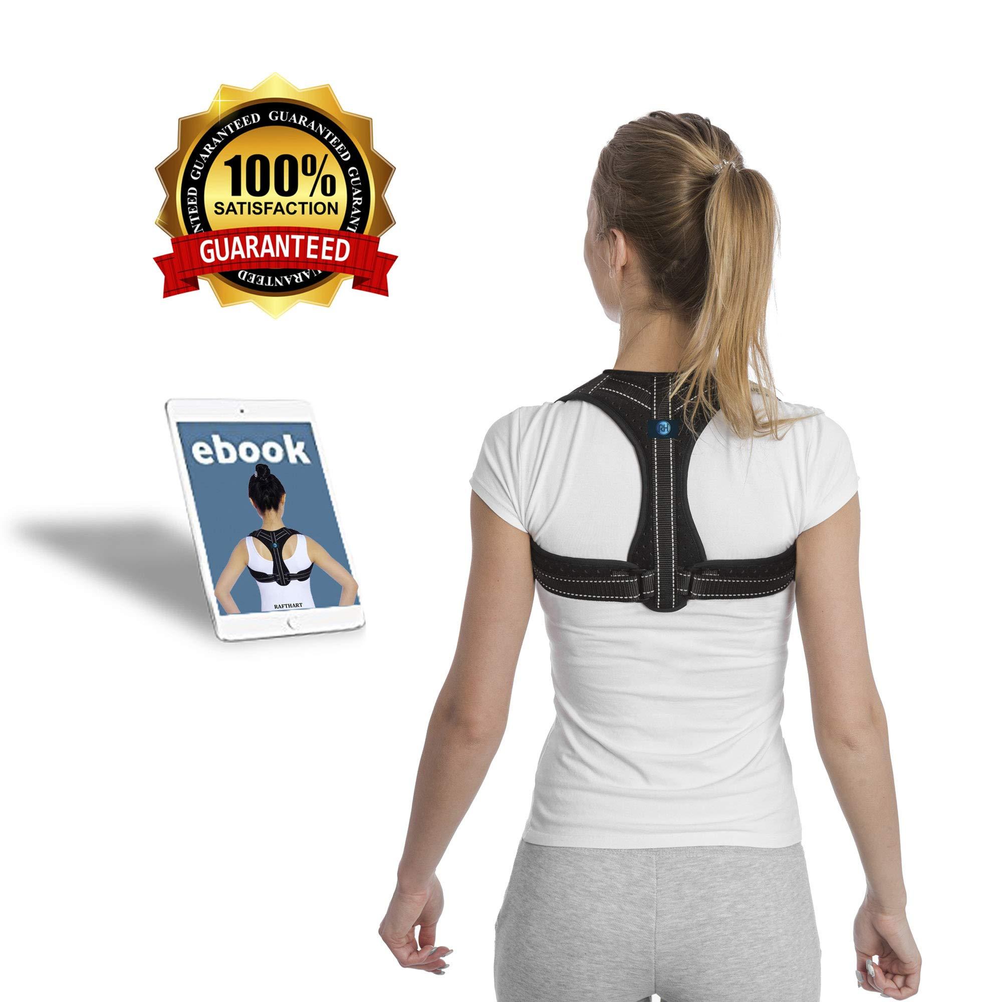 Back Posture Corrector for Women & Men | Enhances Posture & Relieves Back & Neck Pain| Best Fully Adjustable Posture Brace | Upper Back Straightener for Slouching & Hunching| Subtle Comfortable Design