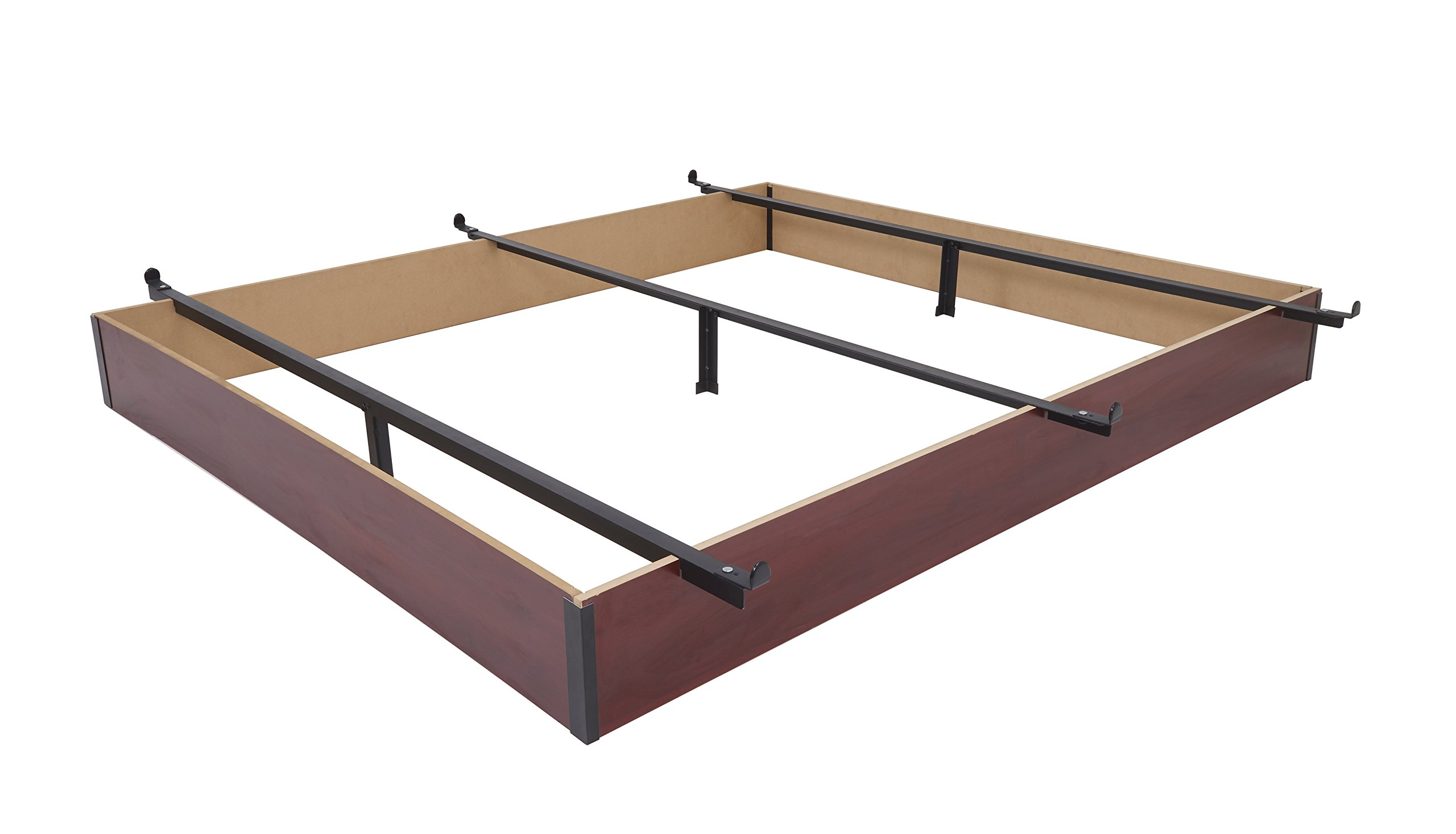 Mantua Queen Wood Bed Base, Cherry Finish - Extend the Life of Any Box Spring and Mattress, Prevent Dust Accumulation Under Beds, Easy Assembly with No Tools Required - Model C75WB50 N by Mantua