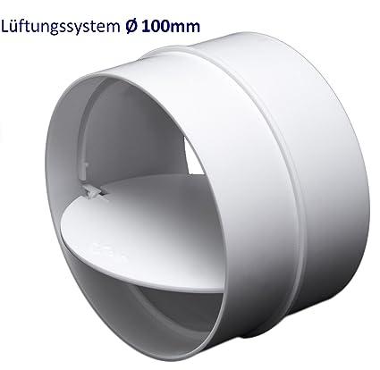 100/mm Kair SYS-100 DUCVKC303 con obturador antirretorno Conector de extractor