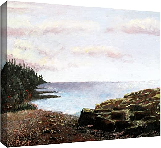 16 by 28-Inch ArtWall Ravage Sea Unwrapped Flat Canvas Art by Gene Foust